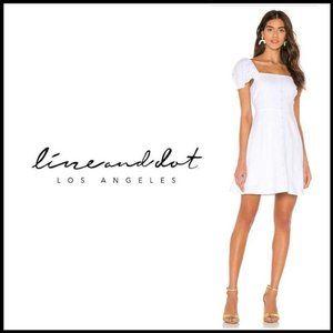 NWT LINE & DOT White A-Line Puff Sleeve Mini Dress